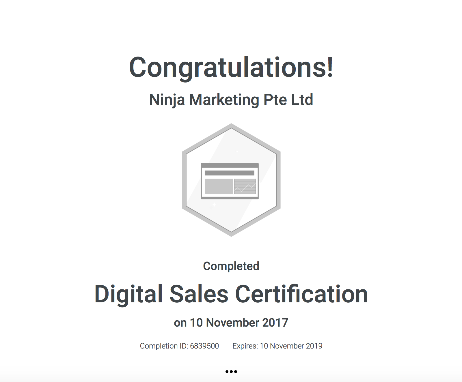 Ninja Marketing - Google Digital Sales Certification