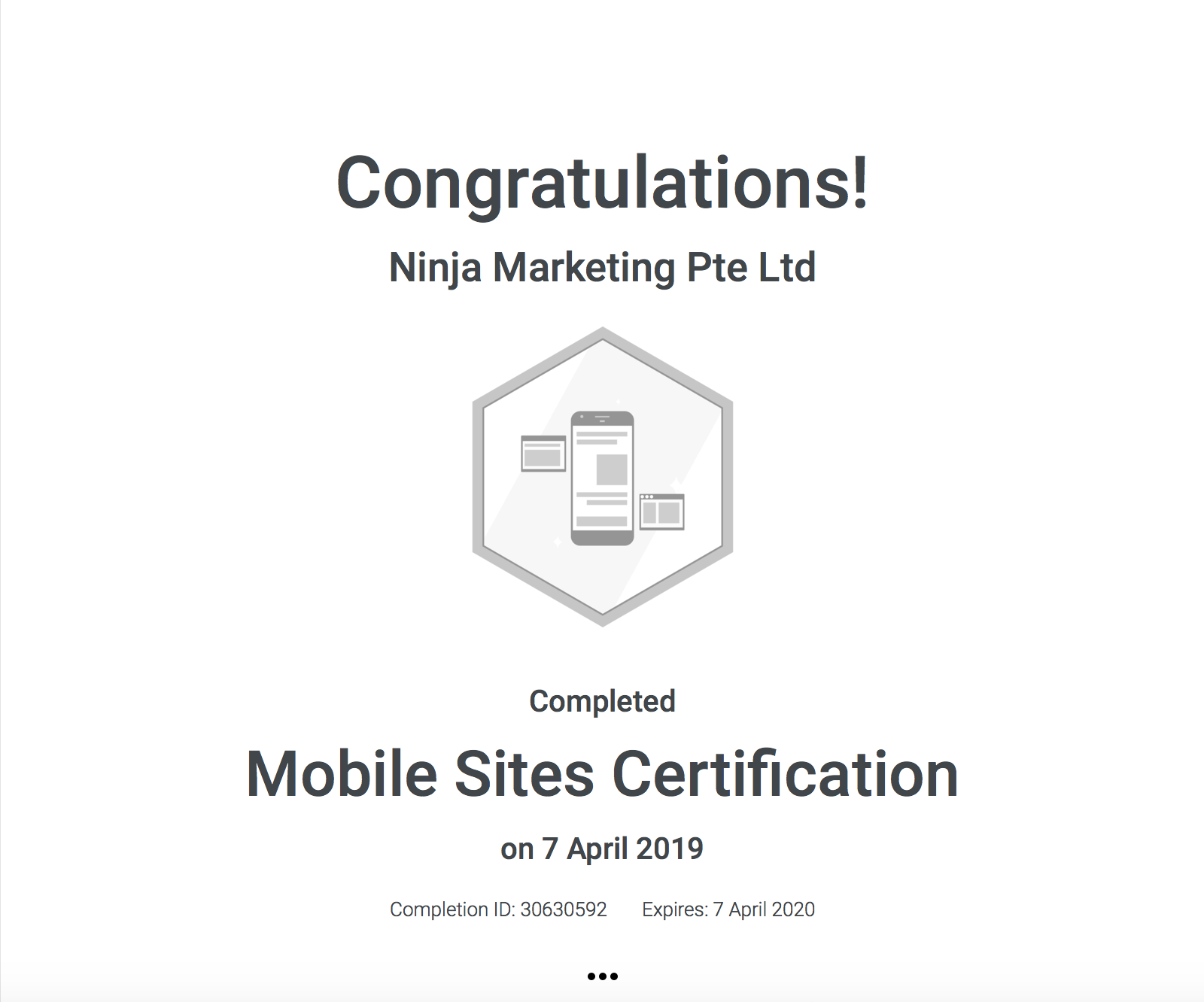 Ninja Marketing - Google Mobile Sites Certification